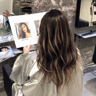 成人式 3Dハイライト 外国人風 セミロング ヘアスタイルや髪型の写真・画像