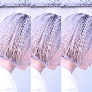 バレイヤージュ ユニコーンカラー グラデーションカラー ハイライト ヘアスタイルや髪型の写真・画像