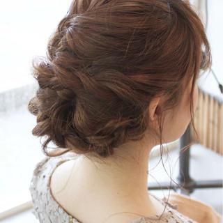女子会 デート フェミニン ヘアアレンジ ヘアスタイルや髪型の写真・画像
