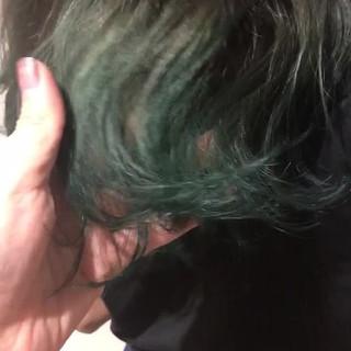 ウェーブ ロング オリーブアッシュ ヘアアレンジ ヘアスタイルや髪型の写真・画像