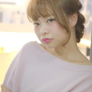 大人かわいい ショート 簡単ヘアアレンジ フェミニン ヘアスタイルや髪型の写真・画像