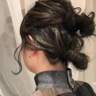大人かわいい フェミニン ミディアム ヘアアレンジ ヘアスタイルや髪型の写真・画像