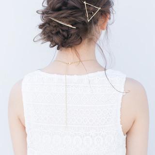 ショート ロング 編み込み 簡単ヘアアレンジ ヘアスタイルや髪型の写真・画像