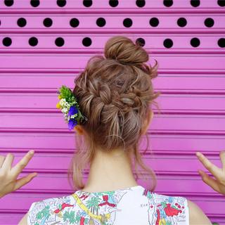 ボブ 外国人風 お団子 ヘアアレンジ ヘアスタイルや髪型の写真・画像 ヘアスタイルや髪型の写真・画像