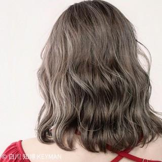 ミディアム 色気 秋 ボブ ヘアスタイルや髪型の写真・画像