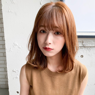 シースルーバング デート 前髪パーマ デジタルパーマ ヘアスタイルや髪型の写真・画像