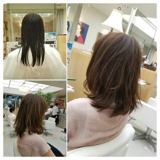 フェミニン 泉里香 ウルフカット セミロング ヘアスタイルや髪型の写真・画像
