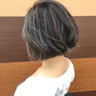 外国人風カラー ボブ 透明感 ストリート ヘアスタイルや髪型の写真・画像