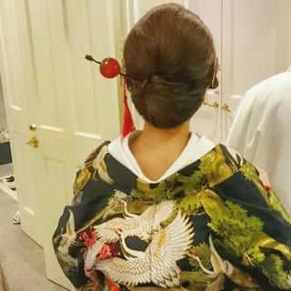 和装 ブライダル ロング 着物 ヘアスタイルや髪型の写真・画像