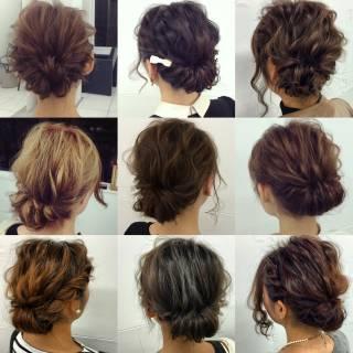 ルーズ ヘアアレンジ フェミニン 簡単ヘアアレンジ ヘアスタイルや髪型の写真・画像 ヘアスタイルや髪型の写真・画像