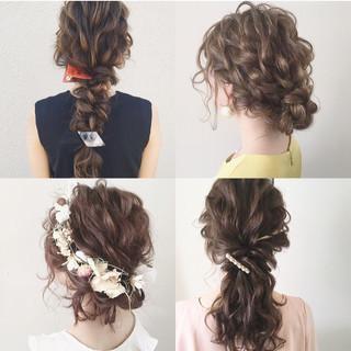 ヘアアレンジ 大人かわいい ガーリー 結婚式 ヘアスタイルや髪型の写真・画像 ヘアスタイルや髪型の写真・画像