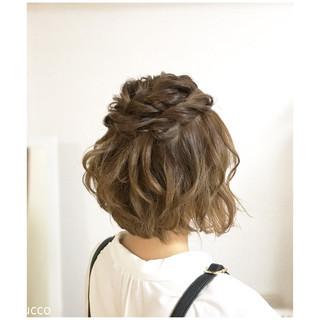ヘアアレンジ ボブ デート ナチュラル ヘアスタイルや髪型の写真・画像 ヘアスタイルや髪型の写真・画像