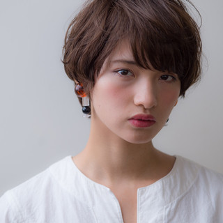 パーマ 似合わせ ゆるふわ 暗髪 ヘアスタイルや髪型の写真・画像