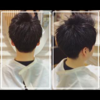 黒髪 ショート メンズ メンズヘア ヘアスタイルや髪型の写真・画像