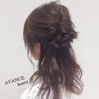 セミロング ヘアアレンジ イルミナカラー 大人女子 ヘアスタイルや髪型の写真・画像 ヘアスタイルや髪型の写真・画像