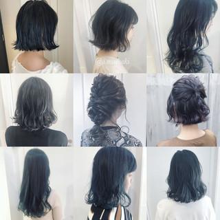 ナチュラル セミロング 透明感 渋谷系 ヘアスタイルや髪型の写真・画像