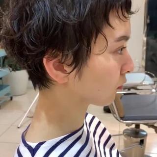 ショートカット ベリーショート 黒髪ショート ショート ヘアスタイルや髪型の写真・画像