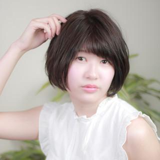 ナチュラル 小顔ショート ショートヘア ボブ ヘアスタイルや髪型の写真・画像