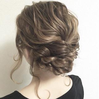 セミロング ナチュラル 簡単ヘアアレンジ ロング ヘアスタイルや髪型の写真・画像