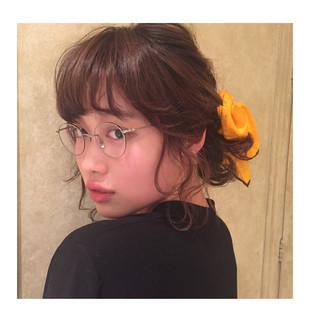 ロング ヘアアレンジ ゆるふわ ショート ヘアスタイルや髪型の写真・画像