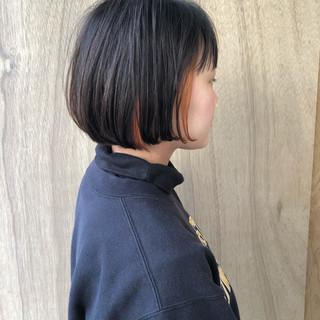 ハンサムショート ナチュラル ミニボブ ボブ ヘアスタイルや髪型の写真・画像