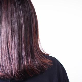 ピンク セミロング ナチュラル ベリーピンク ヘアスタイルや髪型の写真・画像