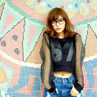 パーマ 外国人風 ストリート グラデーションカラー ヘアスタイルや髪型の写真・画像