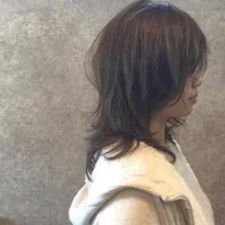 前髪あり フェミニン 大人女子 セミロング ヘアスタイルや髪型の写真・画像