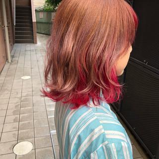大人かわいい インナーカラー ボブ 外国人風 ヘアスタイルや髪型の写真・画像