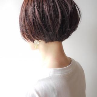 ショート デート イルミナカラー コンサバ ヘアスタイルや髪型の写真・画像 ヘアスタイルや髪型の写真・画像