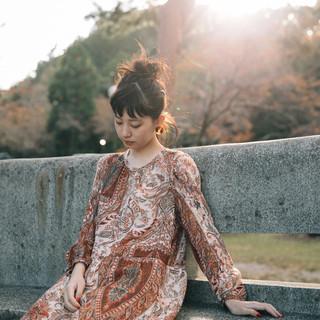 ロング ナチュラル デート 秋ブラウン ヘアスタイルや髪型の写真・画像