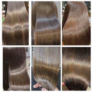 ミルクティー oggiotto ミルクティーグレージュ 髪質改善トリートメント ヘアスタイルや髪型の写真・画像