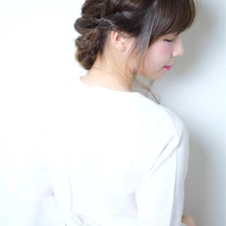 大人かわいい ヘアアレンジ 結婚式 フェミニン ヘアスタイルや髪型の写真・画像
