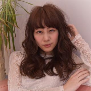 ガーリー 大人かわいい パーマ ニュアンス ヘアスタイルや髪型の写真・画像