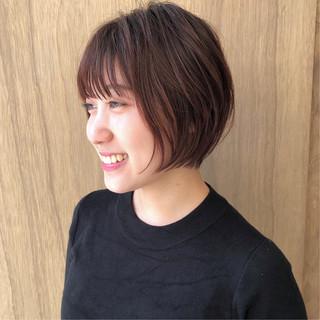 ショート ミニボブ ショートボブ 外ハネボブ ヘアスタイルや髪型の写真・画像