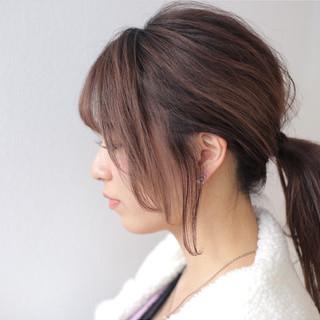 デート デザイン ナチュラル バレイヤージュ ヘアスタイルや髪型の写真・画像