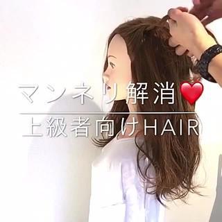 結婚式 簡単ヘアアレンジ セミロング エレガント ヘアスタイルや髪型の写真・画像
