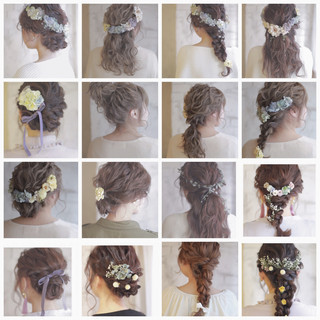 簡単ヘアアレンジ 成人式 ミディアム 大人かわいい ヘアスタイルや髪型の写真・画像