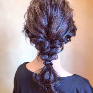 編みおろし ロング エレガント 大人かわいい ヘアスタイルや髪型の写真・画像