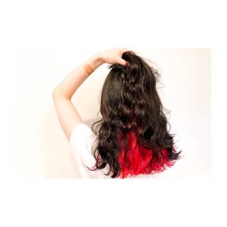 インナーカラー ロング かっこいい 大人女子 ヘアスタイルや髪型の写真・画像