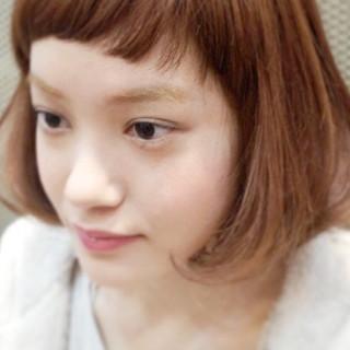 オン眉 ピュア ボブ ナチュラル ヘアスタイルや髪型の写真・画像