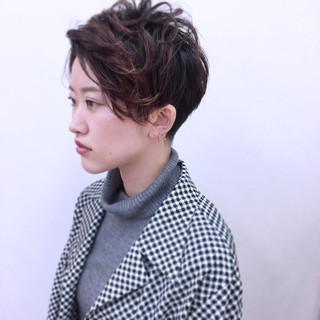 刈り上げ 小顔 ウェットヘア モード ヘアスタイルや髪型の写真・画像