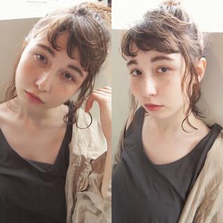 ゆるふわ 外国人風 ストリート 簡単ヘアアレンジ ヘアスタイルや髪型の写真・画像 ヘアスタイルや髪型の写真・画像
