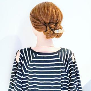 ヘアアレンジ ロング ショート くるりんぱ ヘアスタイルや髪型の写真・画像