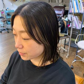 レイヤーカット ハイライト ミディアムレイヤー ミディアム ヘアスタイルや髪型の写真・画像