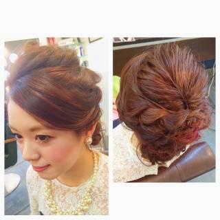 大人かわいい ヘアアレンジ フェミニン コンサバ ヘアスタイルや髪型の写真・画像