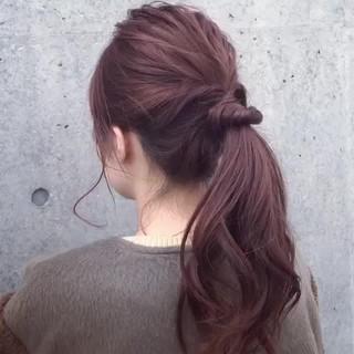 ロング グレージュ ヘアアレンジ 表参道 ヘアスタイルや髪型の写真・画像