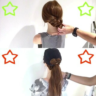 夏 女子会 アウトドア ロング ヘアスタイルや髪型の写真・画像