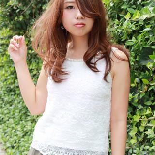 ヘアアレンジ 春 セミロング ミディアム ヘアスタイルや髪型の写真・画像