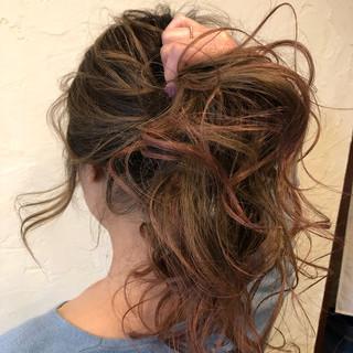 外国人風カラー ハイライト アンニュイほつれヘア ガーリー ヘアスタイルや髪型の写真・画像 ヘアスタイルや髪型の写真・画像